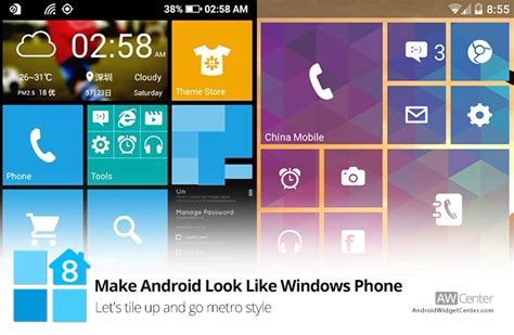 how to make android how to make android look like windows phone let s tile up