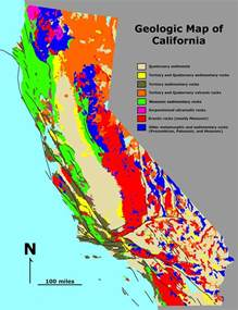 california map earth geologic map california mapsof net