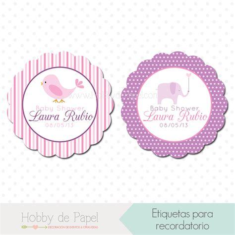 Etiquetas Para Baby Shower by Etiquetas Recordatorio Baby Shower Ni 241 A Elefante Baby