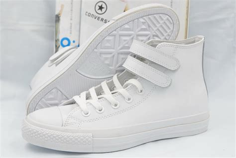 Converse All Fullwhite Sneakers Putih white high tops converse velcro leather ct all shoes converse flag shoes and