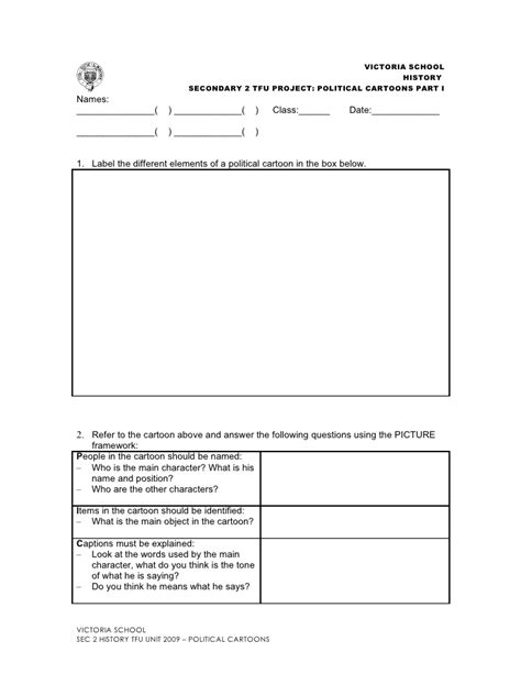 political cartoons tfu worksheets students template