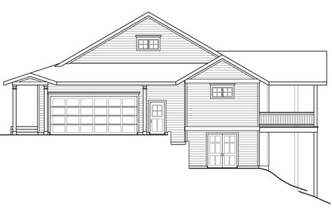 Sloped Lot Home Plans by Sloping Lot House Plans