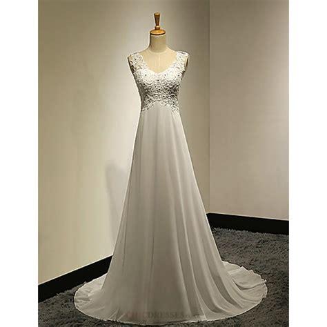 A Line Pe E Pluss  Ee  Wedding Ee   Dress White Sweep