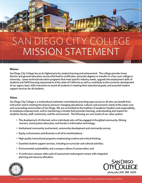 Food Pantry Mission Statement by Mission Statement About San Diego City College