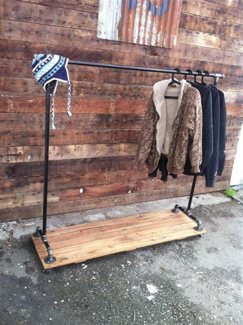 Industrial Pipe Clothing Rack by Industrial Cast Iron Pipe Clothing Rack House Industrial Clothing Racks And