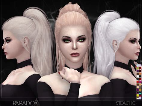 sims 4 cc hair stealthic paradox female hair
