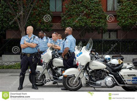washington dc police boat motorcycle police washington dc editorial image image