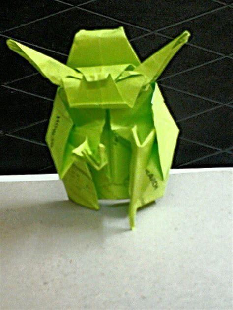 Origami Jedi Master Yoda - origami jedi master yoda fumiaki kawahata by