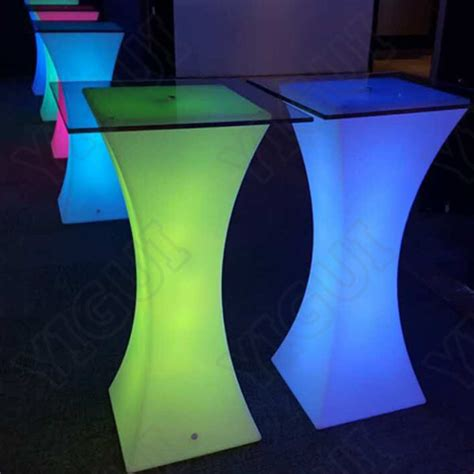 led cocktail tables for sale 110cm high folding bar cocktail tables factory direct sale