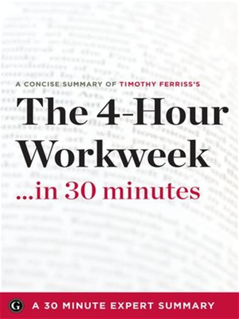 Summary The 4 Hour Work Week Escape 9 5 Live Anywhere