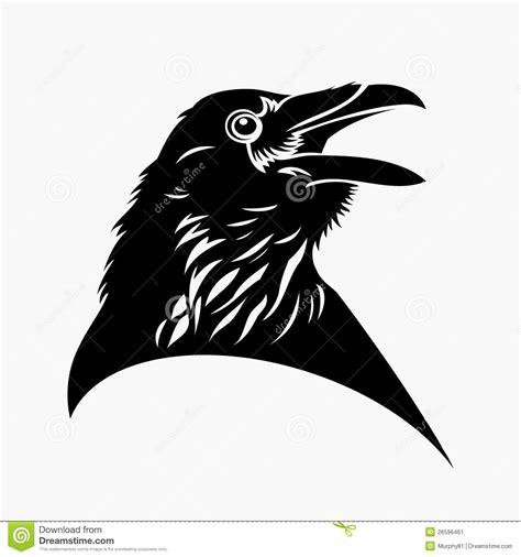 black raven tattoo stock image image 26596461