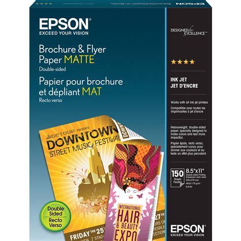 How To Make A Brochure Out Of Paper - epson brochure flyer paper matte for ink jet 8 5 x s042384 b h