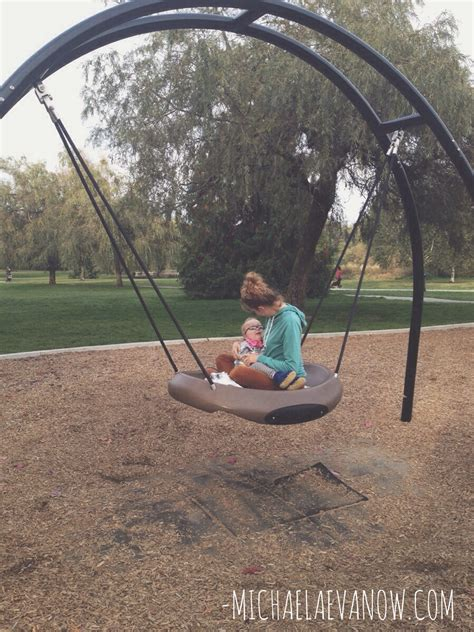 we were swinging and then we were swinging for the very first time