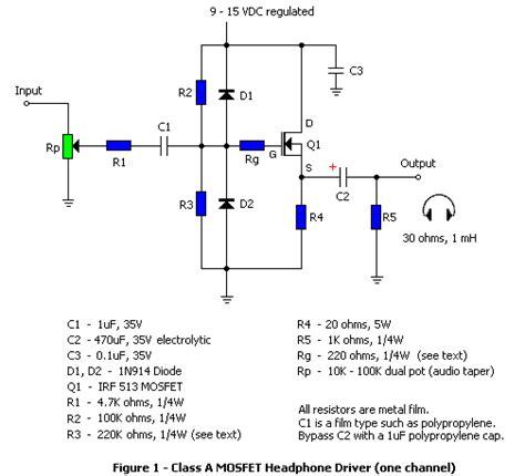 single transistor headphone lifier diyaudio rjm