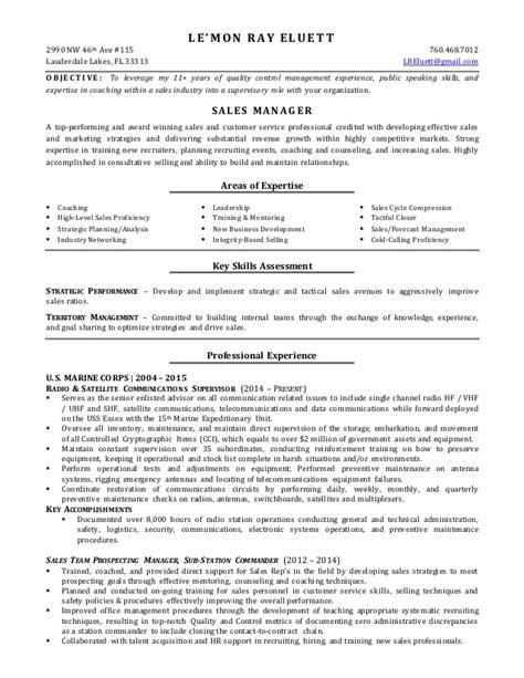 sle recruiter resume objective radio station sales manager resume