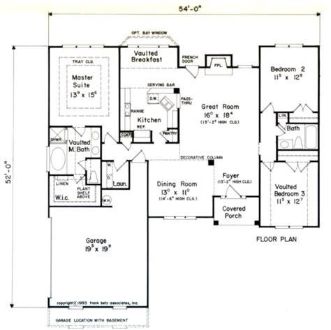 House Plan Details by Geneva House Floor Plan Frank Betz Associates