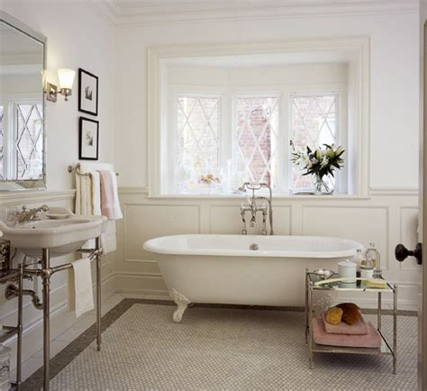 white bathroom with clawfoot tub