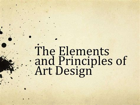 design powerpoint slideshare elements principles of art design powerpoint by emurfield