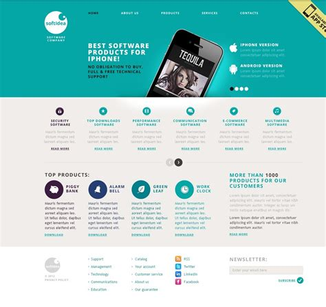 web software software company website template 40477