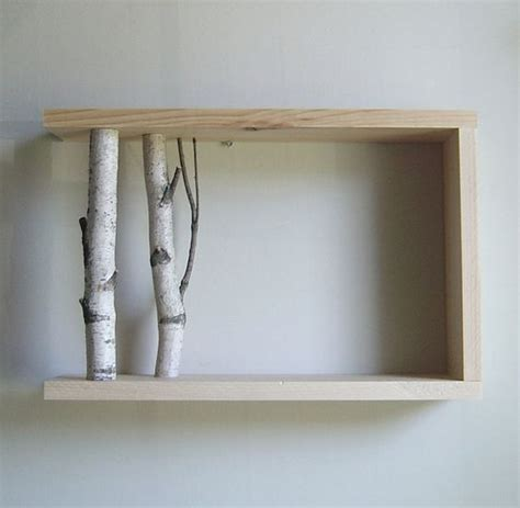 Birch Shelf by White Birch Forest Wall Shelf 12x12 Birch Shelf