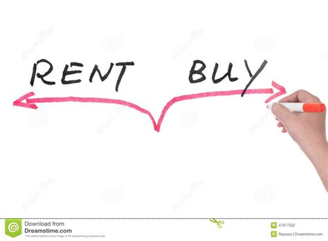 buy versus rent stock image cartoondealer 48289783