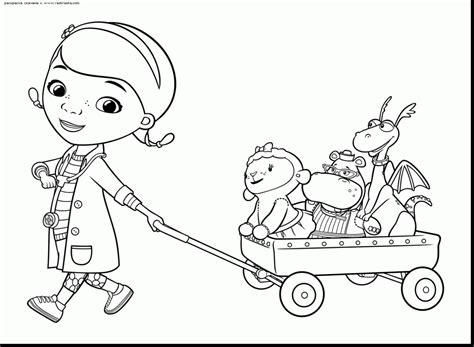 doc mcstuffins giant coloring pages doc mcstuffins coloring pages remarkable with and lambie