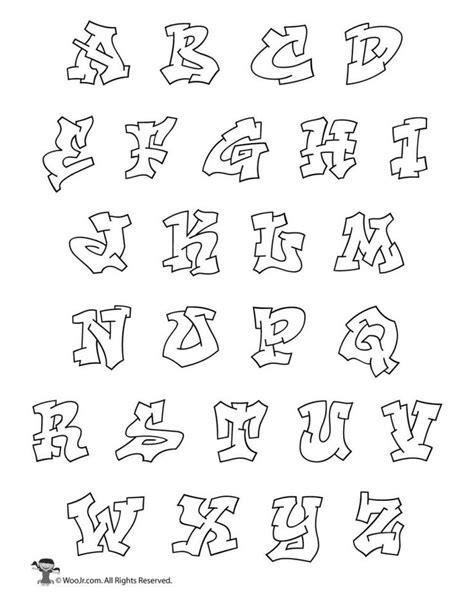 printable graffiti bubble letters alphabet graffiti