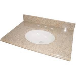 White Vanity Top 31 Inch Glacier Bay 31 Inch Beige Granite Vanity Top With White