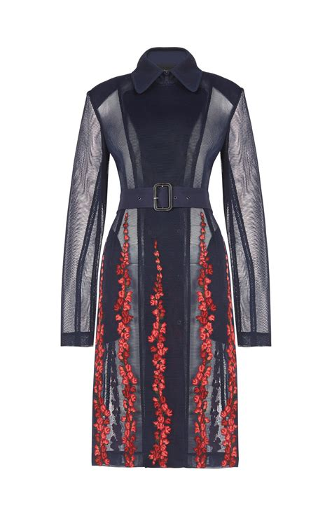 Embroidered Trench Coat korie floral embroidered trench coat