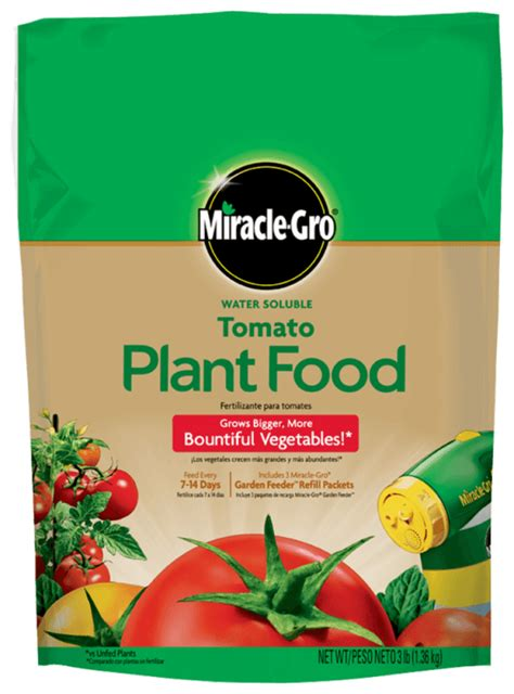 miracle gro water soluble tomato plant food fertilizer
