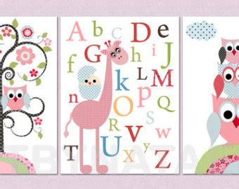 Owl Ls For Nursery by Wall Kid Room Decor Owls Baby Nursery Print Nursery Decor Set Of 3 11 Quot X 14 Quot Owls