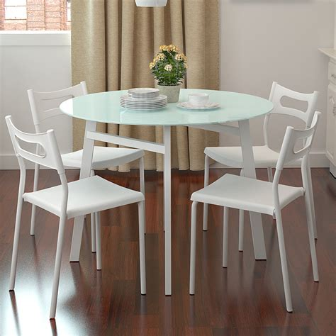 small apartment dining table simple small apartment chao soil fashion round glass