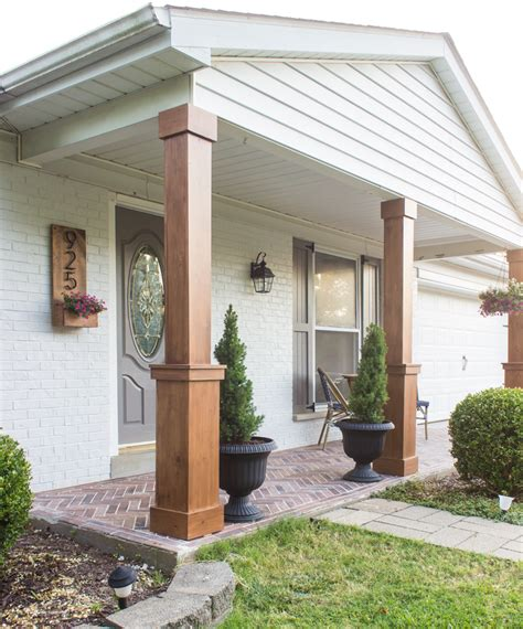 house with columns diy craftsman style porch columns shades of blue interiors