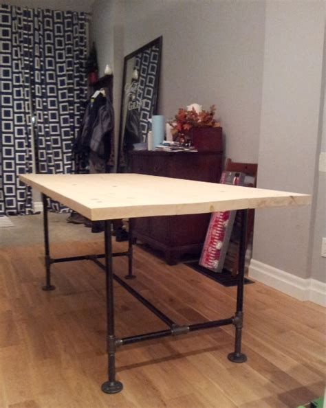 diy table with pipe legs diy pipe wood table pt 2 storefront