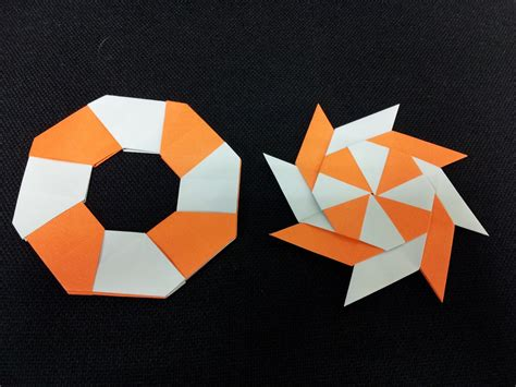 How To Make A Origami Shuriken - paper moon easy origami for the easily bored