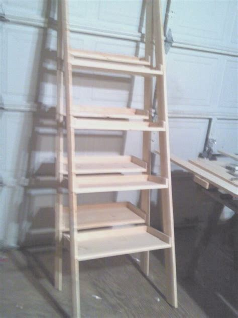 decorative ladder shelves display and