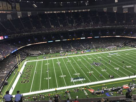 superdome sections superdome section 643 new orleans saints rateyourseats com