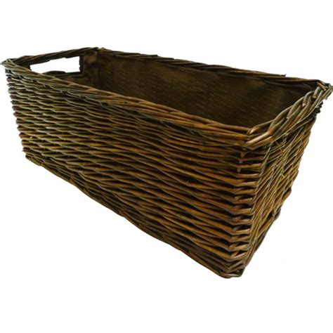 canopy handwoven coffee table storage basket walmart
