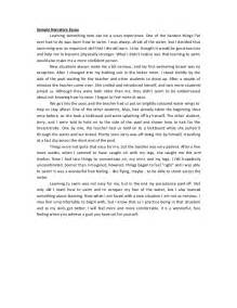 Exles Narrative Essay by Descriptive Narrative Essay Exles