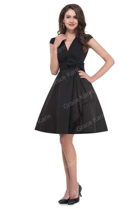 Gaun Pesta Satin Polkadot turn collar sleeve vintage dresses plus size rockabilly swing dress