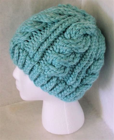 loom knit hat patterns the loom muse chunky cable hat