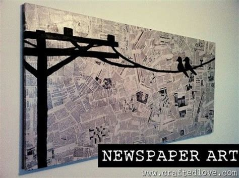 newspaper craft projects some easy and diy newspaper wall hangings and d 233 cor