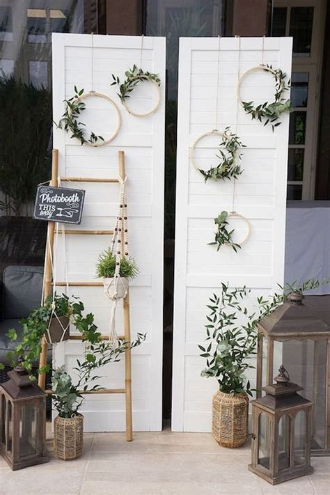 top wooden ladder wedding decor ideas  diys fast chic