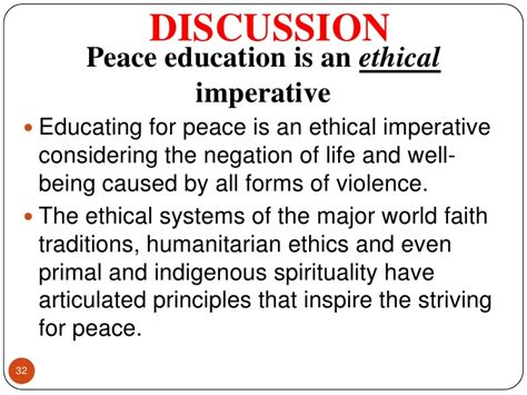 themes of peace education peace education