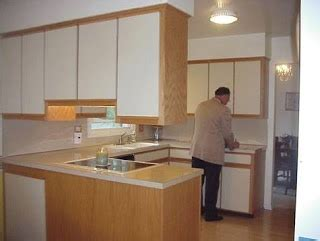 Laminate Kitchen Cabinet Refacing by White Laminate Cabinet Refacing Home Pinterest
