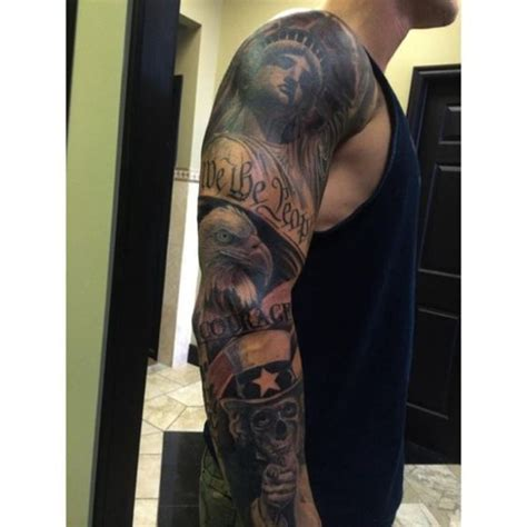 army tattoo sleeve designs superb american patriotic theme on sleeve