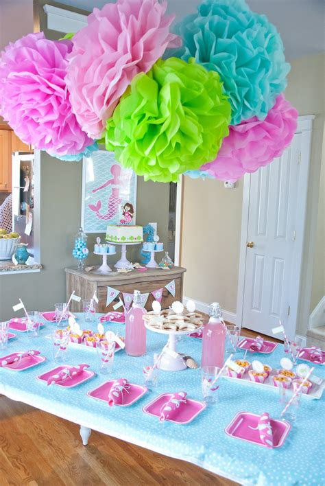 table decoration ideas for birthday party a dreamy mermaid birthday party anders ruff custom