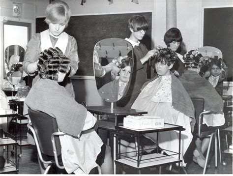 beauty school perm roller set class was the easiest since we all did it