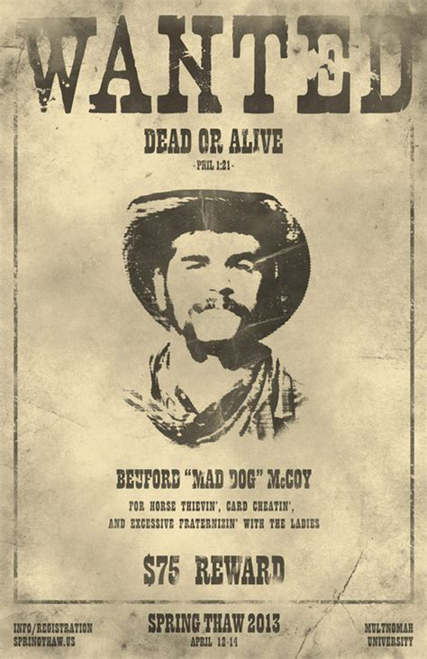 old west wanted poster for event in posters