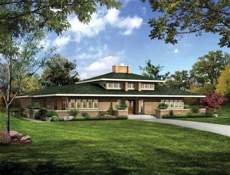 Frank Lloyd Wright Style Home Plans Frank Lloyd Wright Prairie Style House Plans So